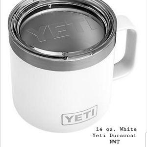 14 oz White Yeti Duracoat NWT